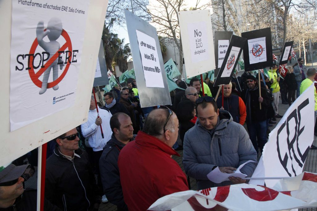 Protesta contra el ERE