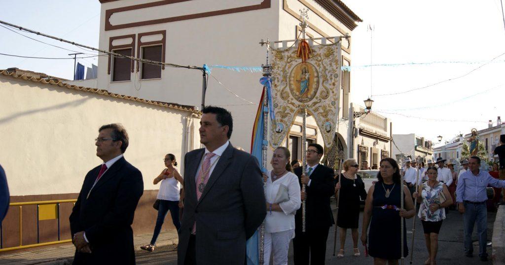 Francisco Gonzalez y José Maria Mayo ayer en la procesión