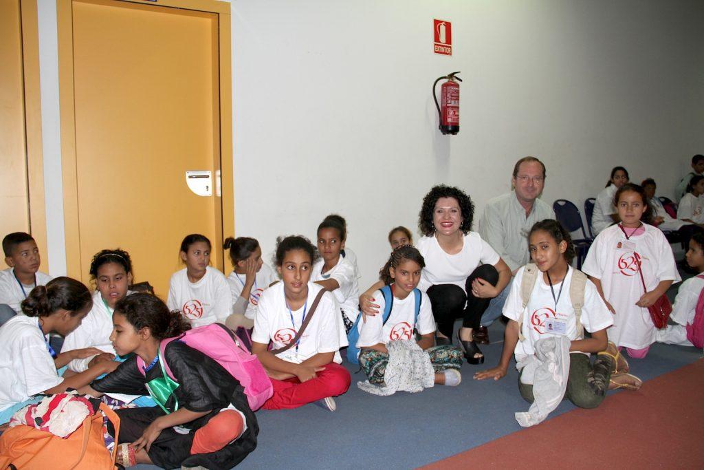 Algunos de los 145 menores que han llegado a Huelva