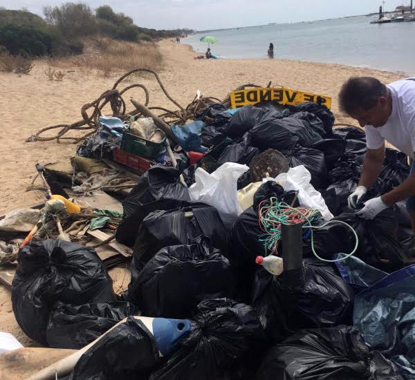Parte de la basura retirada por los voluntarios