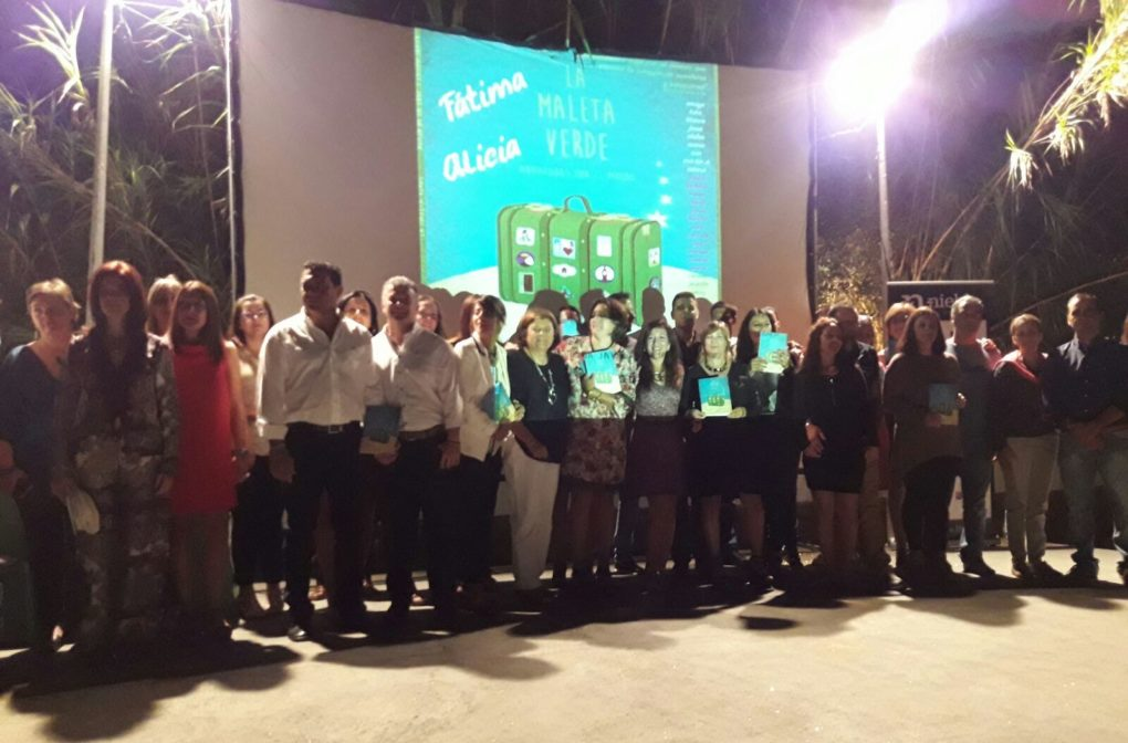 La presentación se realizó en el patio del Centro de Interpretación de la Danza de Villablanca